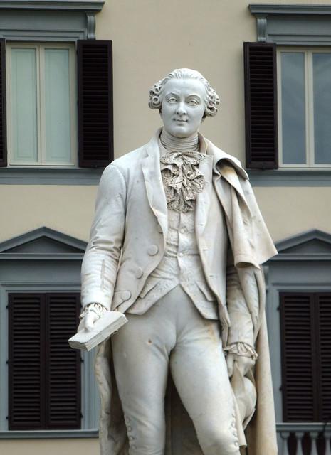 Florence - jour 4 - 007 - Piazza Goldoni - Statue de Carlo Goldoni