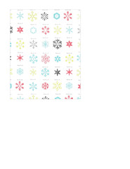 portrait A2 card size JPG snowflake snow crystals LARGE SCALE distress paper