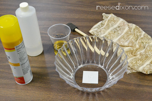 Lace Doily Bowl Tutorial Step 1