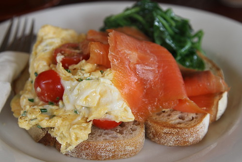 The Mailing Room - smoked salmon, scramble egg, gruyere cheese
