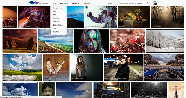 Flickr's new Global Navigation and Explore