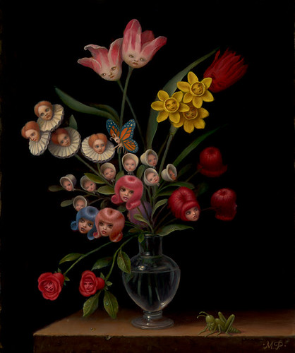 Marion Peck, Bouquet, Oil on canvas, 2007