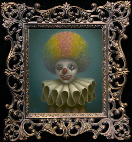 Marion Peck, Rainbow Clown, Oil on canvas, 2009