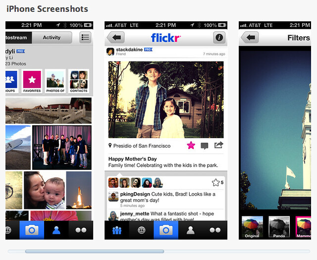 flickr's new app