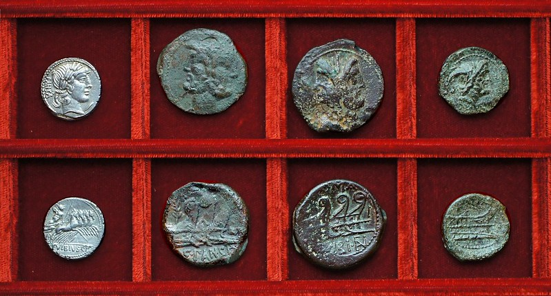 RRC 342 C.VIBIVS CF PANSA Vibia denarius, bronzes, Ahala collection, coins of the Roman Republic