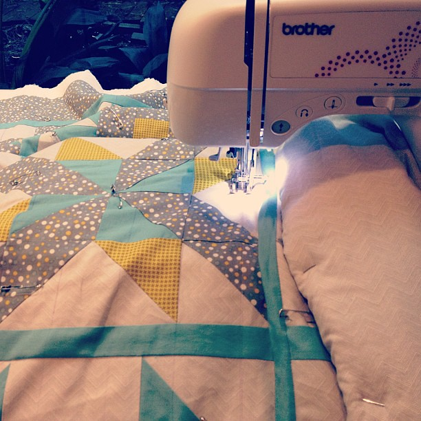 It's happening! Finally quilting my big quilt! Ahhhh! #quilting