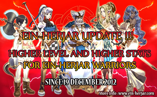 Higher level higher stats for Einherjar warriors
