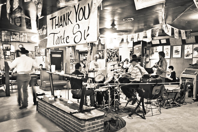 Get up early for this unique experience, deep in the heart of Cajun Country! Drinking, dancing, and live Cajun music at Fred's Lounge in Mamou, LA | PopArtichoke