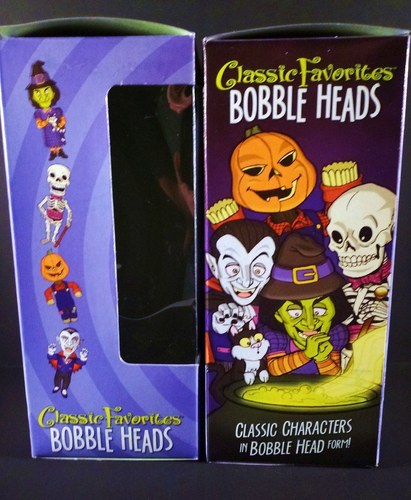 classic favorites halloween bobblehead box