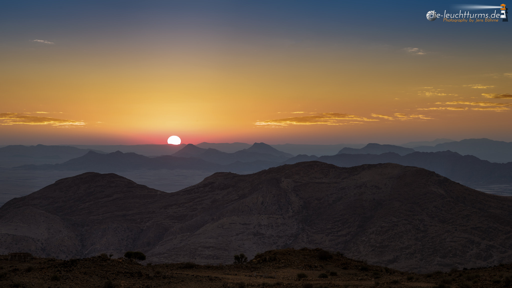 The sun goes down over the Namib