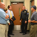Greenwich Police Sergeant Thorme, Community Impact Section Supervisor, led a tour of the Greenwich Police Department for Reps. Floren, Camillo and Bocchino, and Senator Frantz. During the tour the legislators were able to see the different parts of the police department from the break rooms, to the gym, to the cell blocks and motor pool area while discussing the challenges facing police as they work to protect the community.