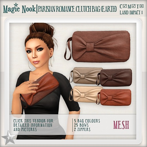 [MAGIC NOOK] Parisian Romance Clutch Bag MESH (Earth)