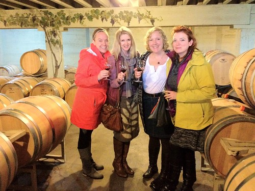 Wine-tasting ladies