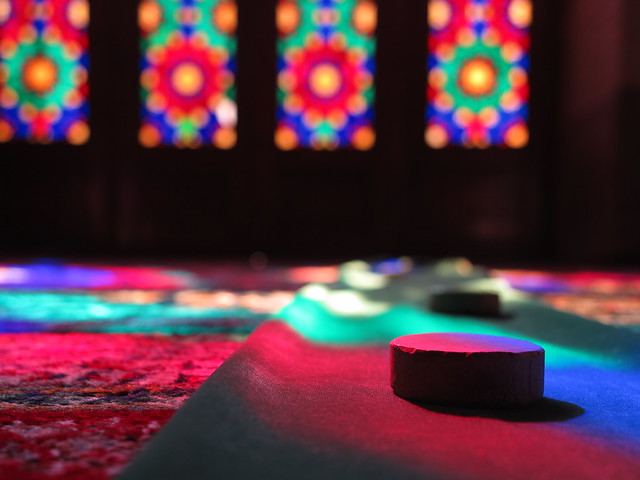 Winter Prayer Hall Masjed Nasir-al-Molk Mosque Shiraz Iran