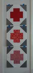 Red Cross raffle quilt blocks
