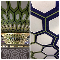 The awesome geometric design in the Abu Dhabi airport.