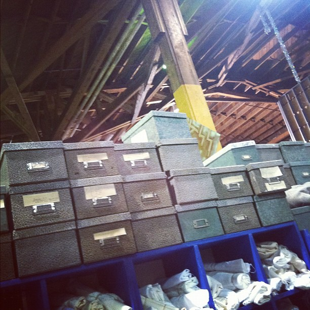 Rescued materials up to the rafters! #sfscrap