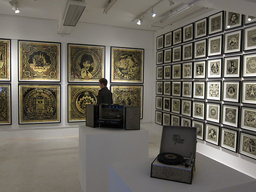 Shepard Fairey in Stolen Space Gallery