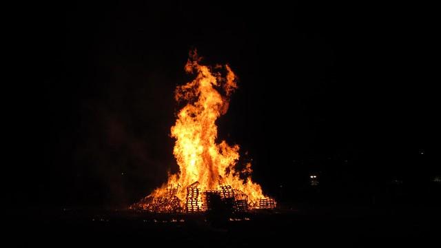 Rye Fawkes 2012 bonfire