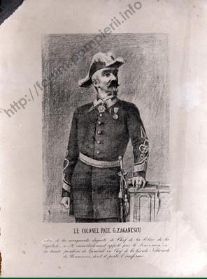 Colonelul Pavel  G. Zăgănescu, şeful Gărzii Naţionale a României -1866