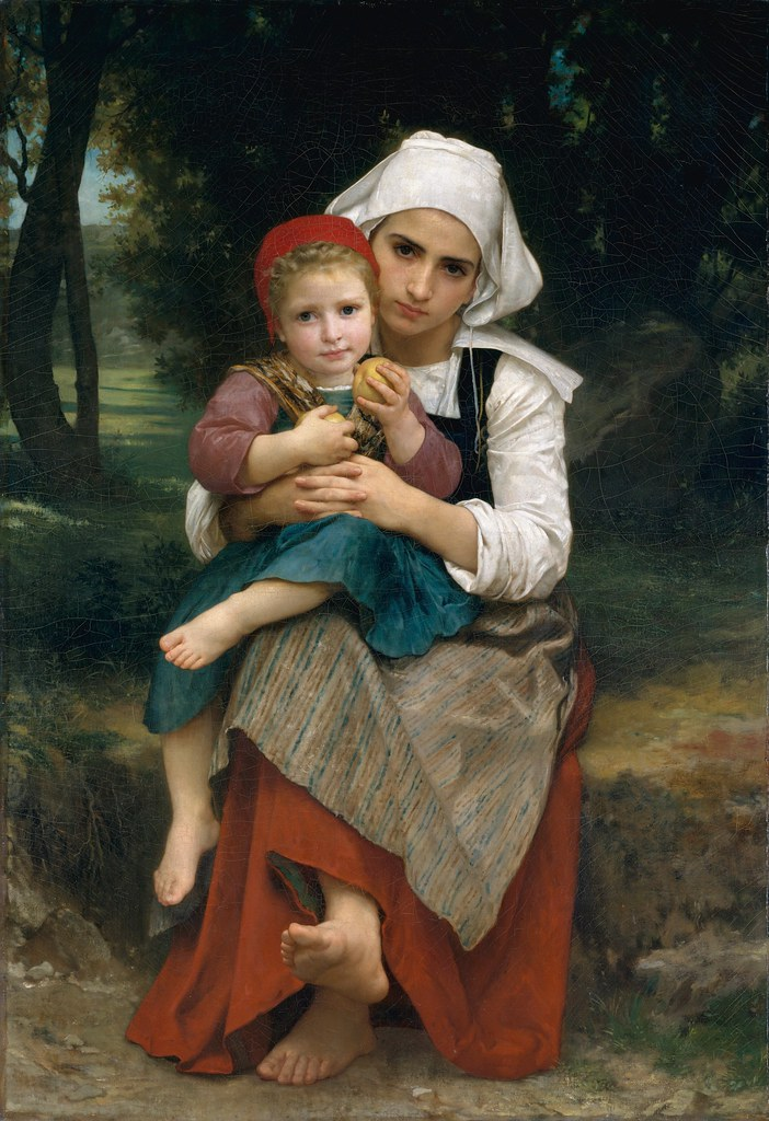 William Bouguereau – Breton Brother and Sister [1871]
