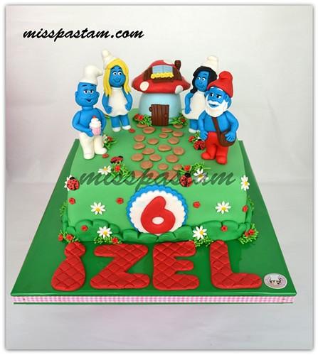 smurfs cake by MİSSPASTAM