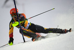 Trevor Philp during World Cup slalom in Levi, Finland.