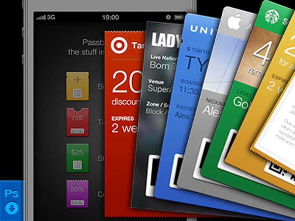 Passbook gift cards Apple Store app