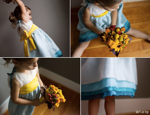 fall flower girl dress