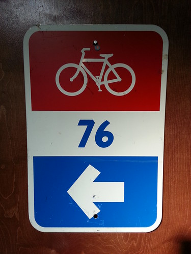 Old 76 Bike Route Sign