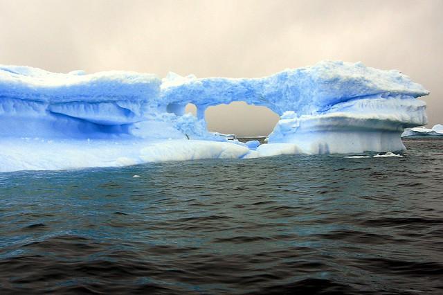 A striking formation near Cuverville Island, Antarctica