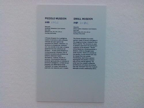 "Piccolo Museion ""2012"" 2002 PAC Garutti by Ylbert Durishti"