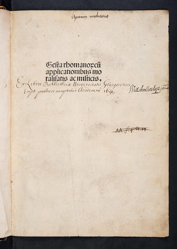 Provenance inscriptions in Anonymous: Gesta Romanorum