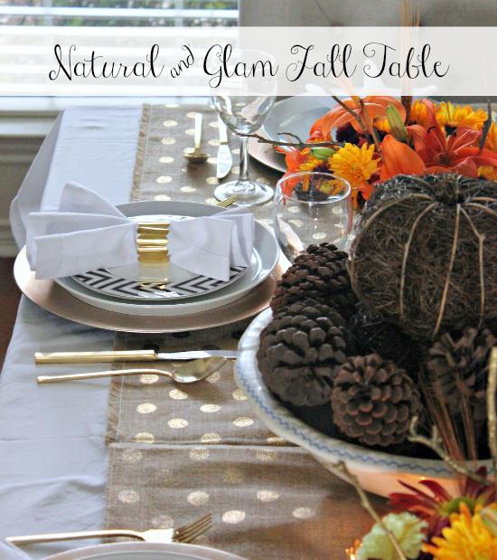 Hi sugarplum natural glam fall table Hi sugarplum