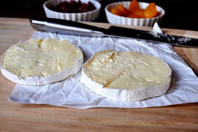 halved brie
