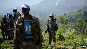 A Monusco contingent in the Democratic Republic of Congo. The United Nations has come under fire for allowing the M23 rebels to sieze the important city of Goma. by Pan-African News Wire File Photos