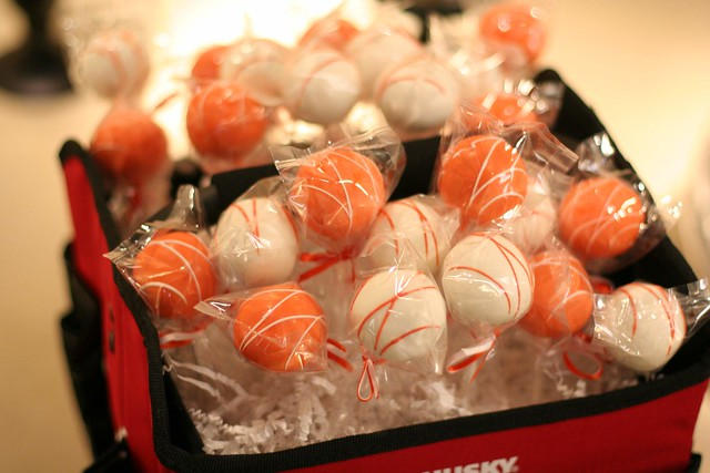 Corporate Cake Pops in Company Colors!