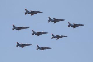 T-4 8機デルタ隊形 - エア・フェスタ浜松2012