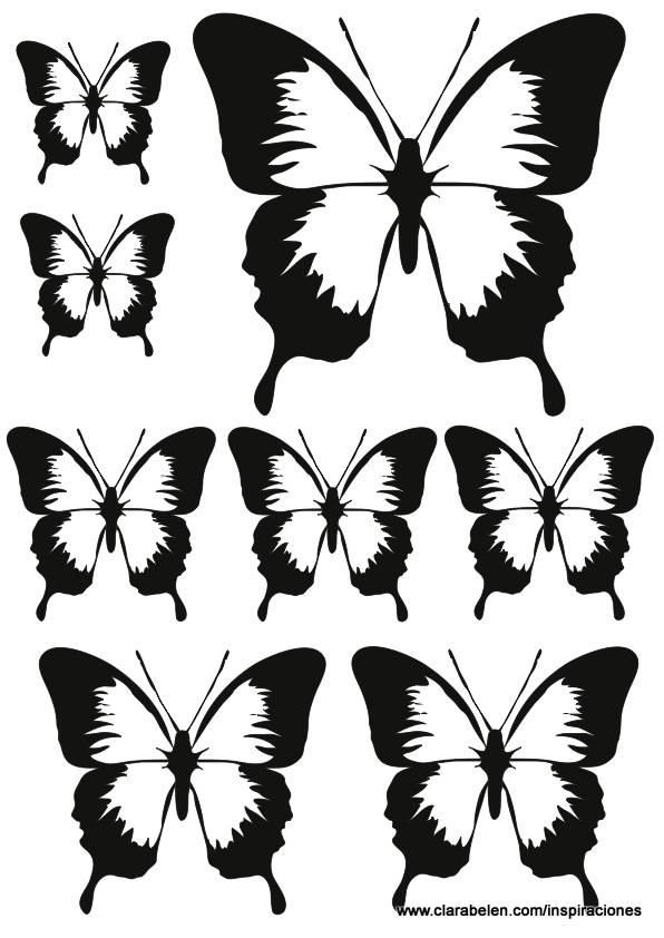 Inspiraciones manualidades y reciclaje mariposas de - Dibujos para paredes infantiles ...