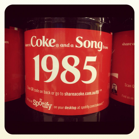 Instragram Photo: Coke 1985