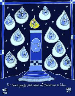 christmas is blue blue christmas candle - Blue Christmas Service