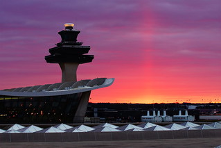 Dulles Airport sunrise - all original colors
