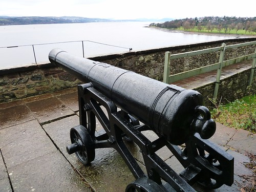 View of River Clyde from Dumbarton Castle, Scotland