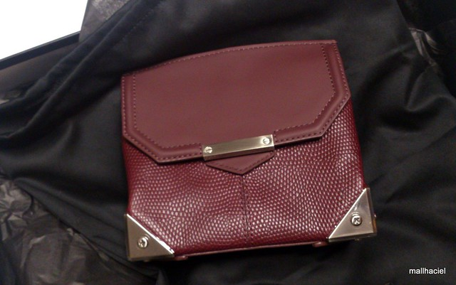 Alexander Wang Printed Lizard Marion Bag in Oxblood