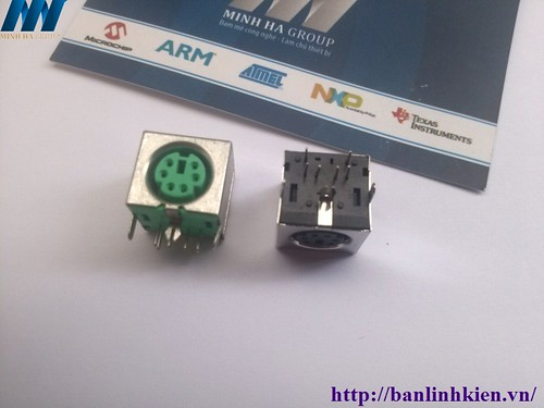 PS2 Conector ( Màu Xanh)