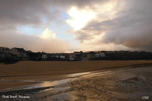 Porth Beach, Newquay (Stormy Morning) by Stocker Images