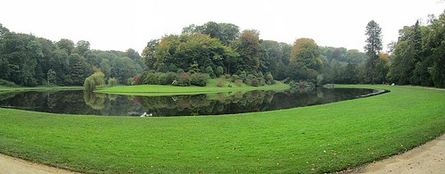 Trees and Water Panorama, Studley Royal Water Garden