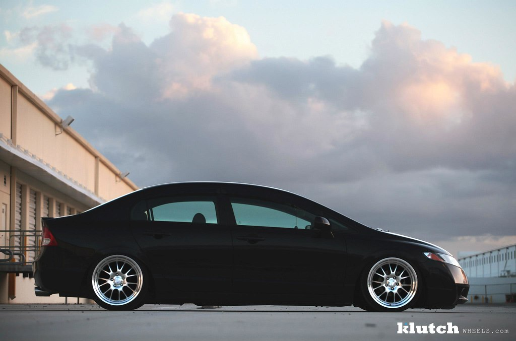 honda civic on klutch wheels sl14 18x9.5 front and rear