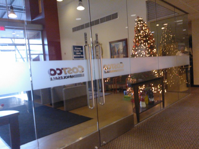 christmas tree is up costco wholesale corporate headquarters entry