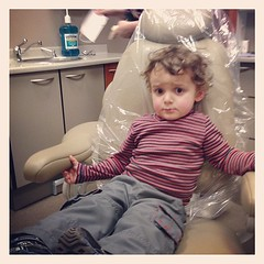Not a bad look for @the_chooch's first dentist visit.